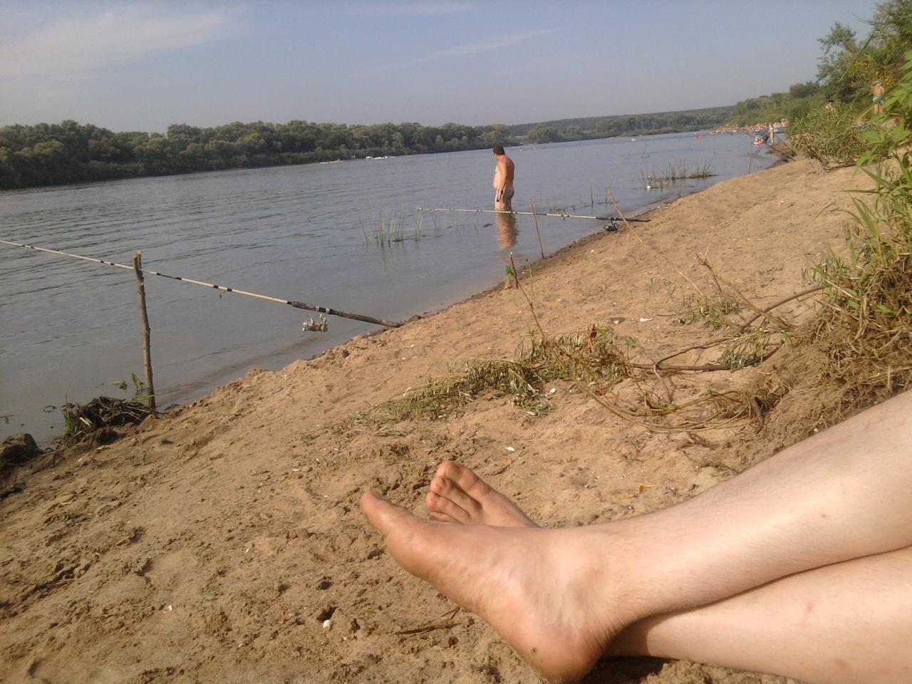 Фото пляжа в пущино