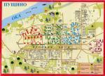 Карта Города Пущино